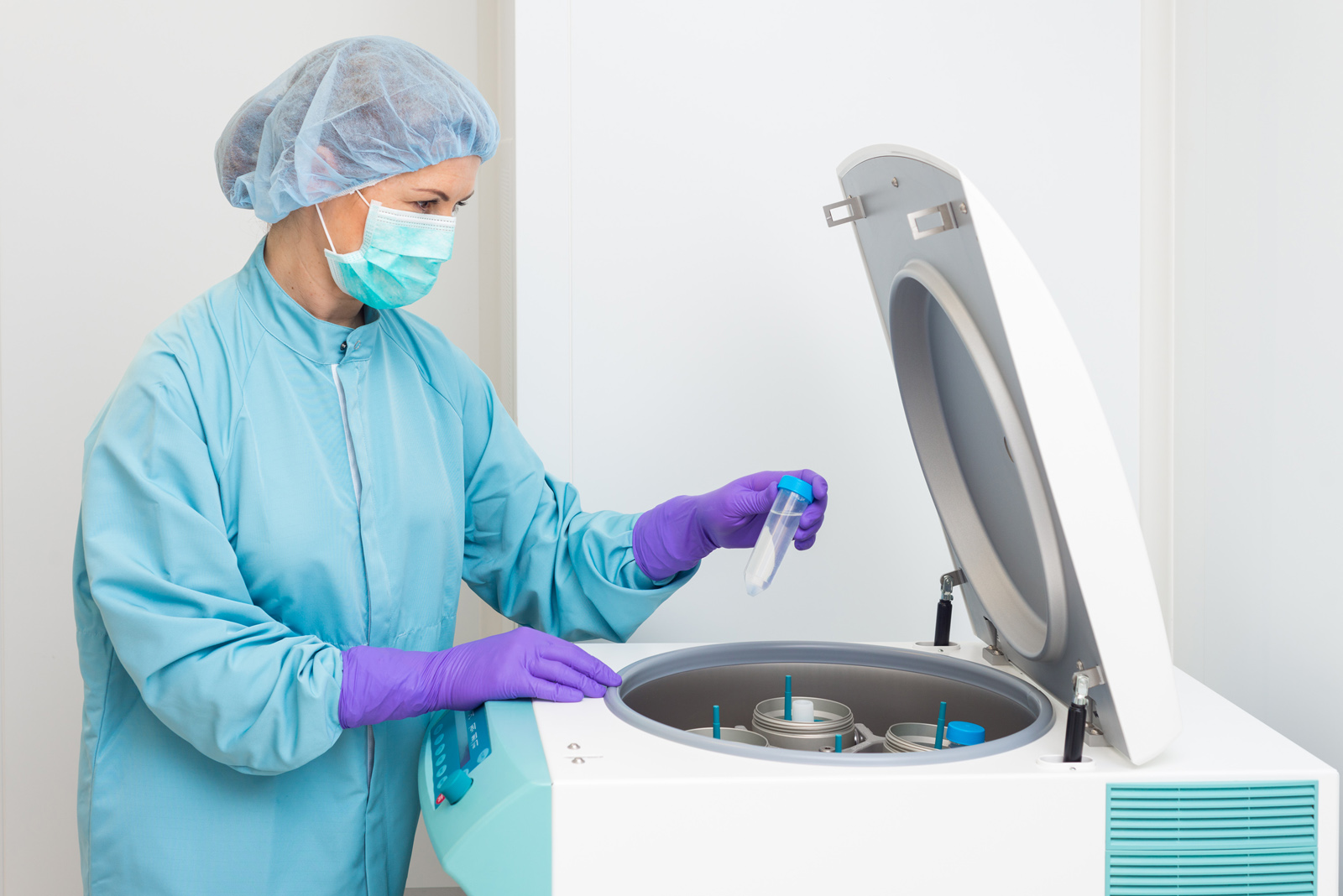 centrifugace suspenze buněk