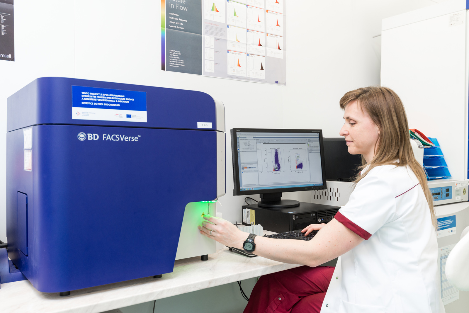 kontrola kvality - flowcytometrické stanovení krvetvorných progenitorů